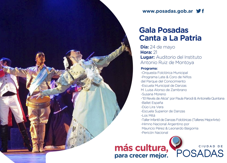 Posadas Canta a la Patria con una gala de lujo en el Montoya